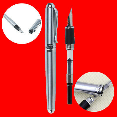 JinHao X750 Silver CT Fountain Pen Smooth Writing Pen BEST GIFT FOR FRIENDS