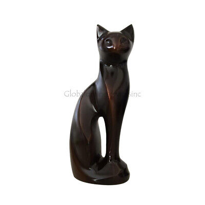 Funeral Pet Cremation Urns For Ashes, Personalised Antique Cat Brass Urn • EUR 109,74