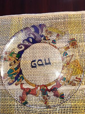 Hand Painted Art Glass Passover Seder Plate