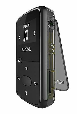SanDisk Sansa Clip Jam 8GB MP3 Player with FM Radio holds 2000 Songs - Black