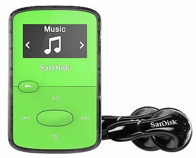 SanDisk Sansa Clip Jam 8GB MP3 Player with FM Radio holds 2000 Songs - Green