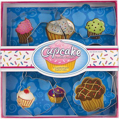 Fox Run Cupcake Shaped Cookie Biscuit Pastry Dough Cutters Molds, 6-Piece Set