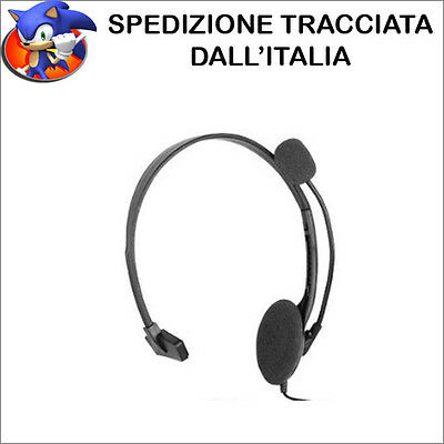 Nuovo Cuffie Auricolari Headset Ps4 Playstation 4  Compatibili Audio Microfono