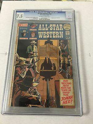 All Star Western 10 Cgc 7.5 Ow/w Pages 1st Appearance Of Jonah Hex