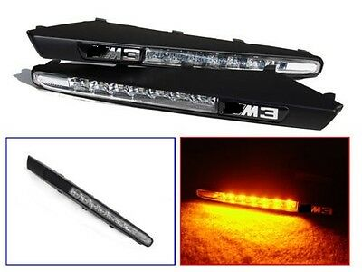 Clear Led Side Repeaters + Black Wing Grill For Bmw E90 E92 E93 3 Series M3