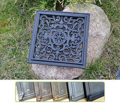 23 x 23cm Cast iron AIR RETURN GRILLES Traditional Vintage Victorian Cover DZ053