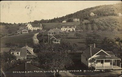 Douglas Hill ME From Douglas Inn c1910 Real Photo Postcard