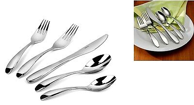 Oneida Stafford Mirror 45 Piece 18/10 Stainless Flatware Service for 8