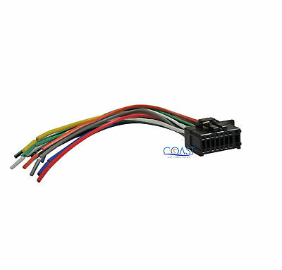 pyle car stereo wiring harness car stereo radio replacement wire harness plug for select ...