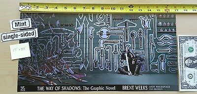 """The Way Of Shadows: Graphic Novel 17"""" x 8.5"""" Poster NYCC Brent Weeks Yen Press"""