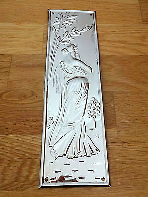 10 X Nickel Plated Art Nouveau Finger Door Push Plate Fingerplate