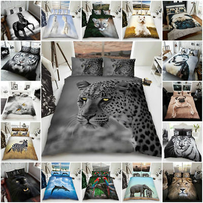 3D Animal Design Duvet Cover Sets Quilt Cover Set Reversible Bedding Sets by GC