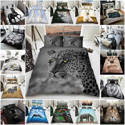 3D Animal Luxurious Modern Stylish Duvet Cover Sets Reversible Bedding Sets GC