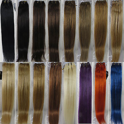 "AAA+ 15""-36"" Remy Weft Human Hair Extensions Straight 100g Width 59"" More Colors"