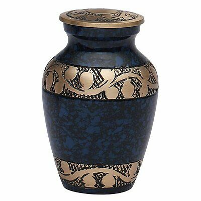 Blue Band Memorial Keepsake Urn for Ashes UK- Funeral Cremation Urns