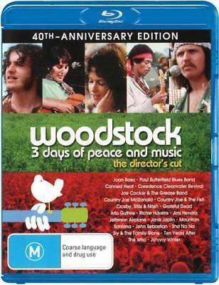 Woodstock 3 Days Of Peace And Music 40th Anniversary Ed. Blu-ray Region B New!