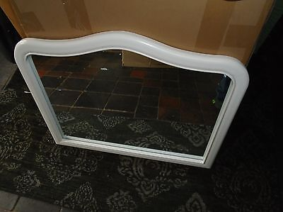 French Style Over mantle Mirror shabby chic Shaped top mirror  exquisite