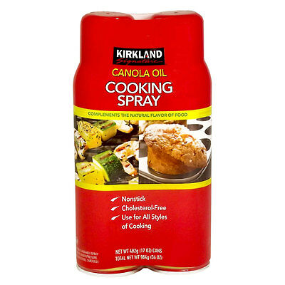 Kirkland Signature Canola Oil Cooking Spray Twin Pack