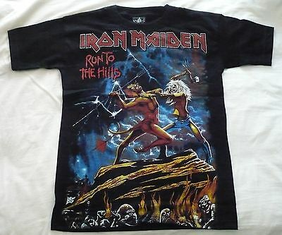 T-SHIRT IRON MAIDEN Run to the Hills HEAVY METAL LP CD SIZE S