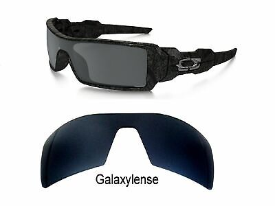 Galaxy Replacement Lenses For Oakley Oil Rig Sunglasses Black Iridium Polarized