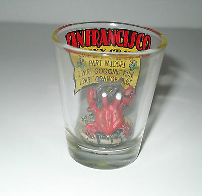 San Francisco Lucky Crab Shot Glass Recipe Inside Glass Crab On Bottom Of Glass