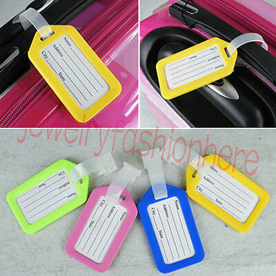 10× Luggage Tags Suitcase Bag Baggage Name Address ID Label Travel Accessories