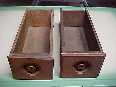 Pair Vintage Sewing Machine Drawers Oak fronts