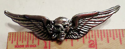 Vintage Grateful Dead pin rock & roll music collectible old skull rose pinback