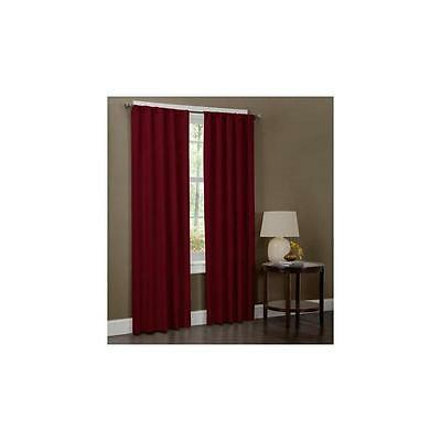 Maytex Microfiber Curtain Panel Set Of 2 40 X 84 Red