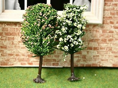 Dolls House Miniature 1/12th Scale Set of 2 Blossom Trees