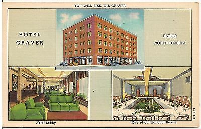 Hotel Graver In Fargo Nd Multiview Postcard 1946