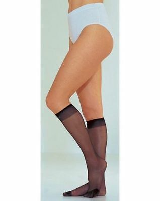 Pretty Polly Knee Highs with Stretch 15 Denier - One Size Barely Black Pack of 3