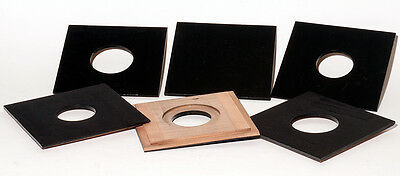 1 LENS BOARD 4x4 for GRAFLEX  ANNIVERSARY  SPEED GRAPHIC, Solid Cherry/free hole