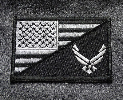 Usa Air Force Logo  Usa Flag  Tactical Morale 3 Inch  Acu Hook Patch