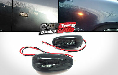 Smoked LED Turn Signal Side Marker Light Lamp Fits Mercedes Benz W202 W210 W208