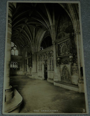 The Ambulatory Postcard Exeter Cathedral Series 1 Raphael Tuck & Sons