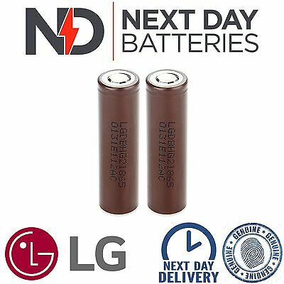 2x GENUINE LG HG2 | 3000mAh 18650 20A 30A High Drain Battery