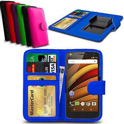 Clip On PU Leather Flip Wallet Book Case Cover For Motorola Moto X (2nd Gen)