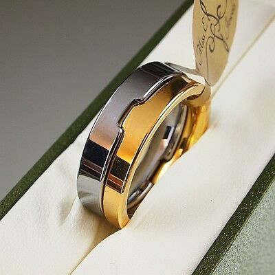 BOXED Genuine Tungsten Carbide Ring Inlay Mens Wedding Band size O Q S T W Z 10