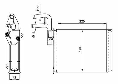 NRF Heat Exchanger interior heating 54225 Fit with Fiat Ducato
