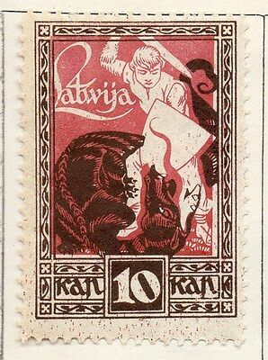 Latvia 1919 Early Issue Fine Mint Hinged 10k. 055069