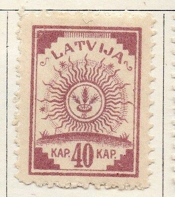 Latvia 1920 Early Issue Fine Mint Hinged 40k. 055077