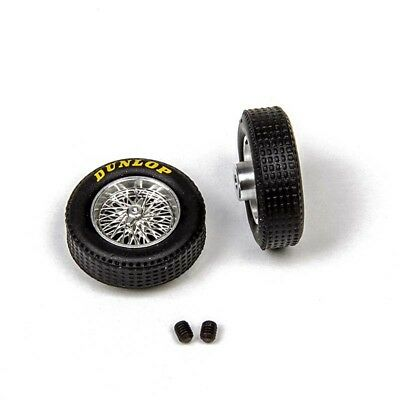 M036D Mitoos Classic Wire Wheels M026 & Classic Dunlop Tyres x2 - New