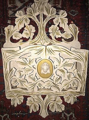 1880 Carved Painted In 30s Rose Wood Victorian Antique John Jellif Magazine Rack