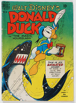 "Dell Comic Walt Disney's Donald Duck in ""The Magic Hourglass"" No. 291 from 1950"