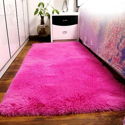 New Fluffy Living Room Carpet Shaggy Soft Area Rug Rectangle Floor Mat Hot PK AD
