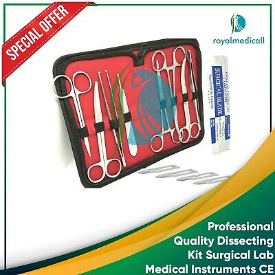 Professional quality dissecting kit surgical lab medical instruments CE MAQNSCO