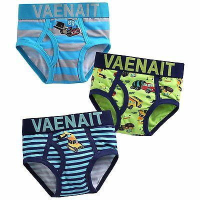 "NWT Vaenait Baby Kids Brief Short Underwear Boy Pantie Set ""Brief Crane"" 2T-7T"