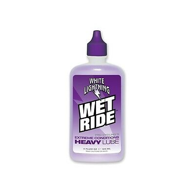 White Lightning Wet Ride Bicycle Chain Lube Oil