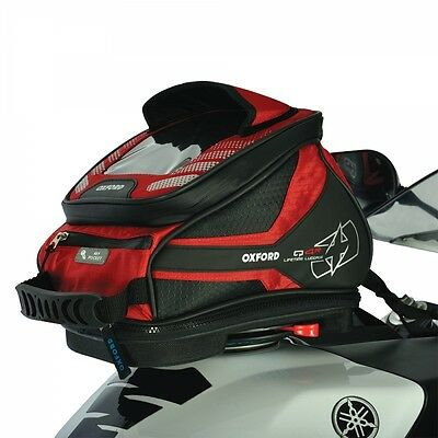 Oxford Q4R Quick Release Motorbike Motorcycle Tank Bag - Red 4 Litres